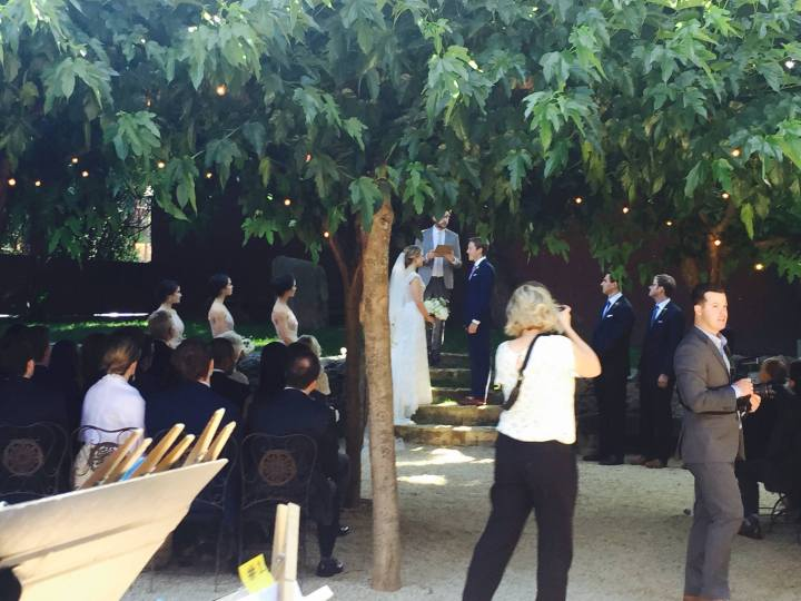 Behind the scenes photo during the ceremony...shhhh!
